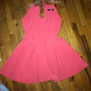 Bright coral formal dress!